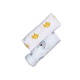 Malabar Baby 2-Pack Majestic Animals Organic Cotton Swaddle Blankets