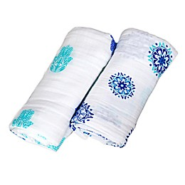 Malabar Baby 2-Pack Protector Series Organic Cotton Swaddle Blankets