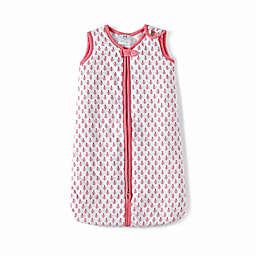Malabar Baby City Lightweight Organic Cotton Wearable Blanket in Pink/White