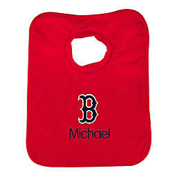"""Designs by Chad and Jake MLB Boston Red Sox """"B"""" Personalized Pullover Bib in Red"""