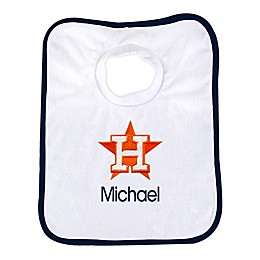 Designs by Chad and Jake MLB Houston Astros Personalized Pullover Bib in White