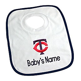 Designs by Chad and Jake MLB Minnesota Twins Personalized Pullover Bib in White