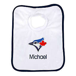 Designs by Chad and Jake MLB Toronto Blue Jays Personalized Pullover Bib in White