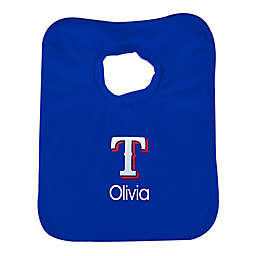 Designs by Chad and Jake MLB Texas Rangers Bib in Royal Blue