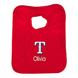 Designs by Chad and Jake MLB Texas Rangers Bib in Red