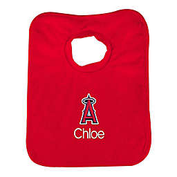 Designs by Chad and Jake MLB Los Angeles Angels Bib in Red