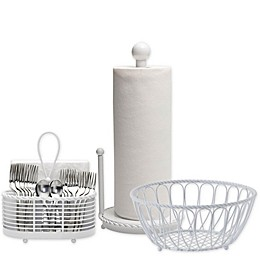Gourmet Basics by Mikasa® Rope Kitchen Basket and Accessory Collection in White