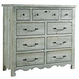 Progressive Furniture Chatsworth 9-Drawer Dresser in Mint