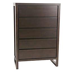 Progressive Furniture Athena 5-Drawer Chest in Chocolate