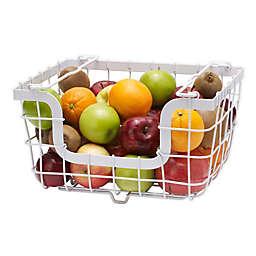 Gourmet Basics By Mikasa® 13.39-Inch Iron Fruit Basket Hanger in White
