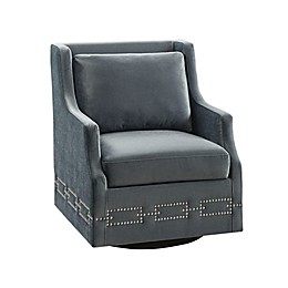 Madison Park Maggie Swivel Glider Chair in Charcoal