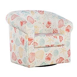 Powell Aidy Seashell Print Swivel Club Chair