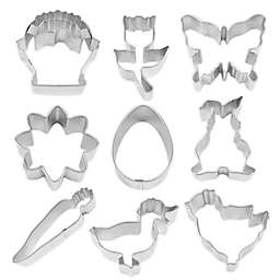 R & M 9-Piece Easter Cookie Cutter Set