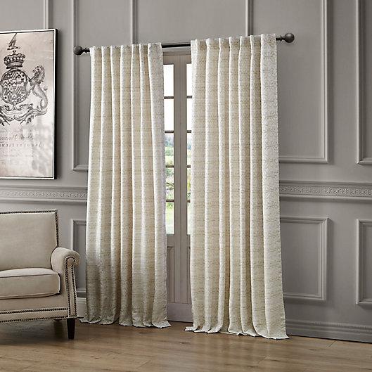 Alternate image 1 for Waterford® Astrid Rod Pocket/Back Tab Window Curtain Panel (Single)