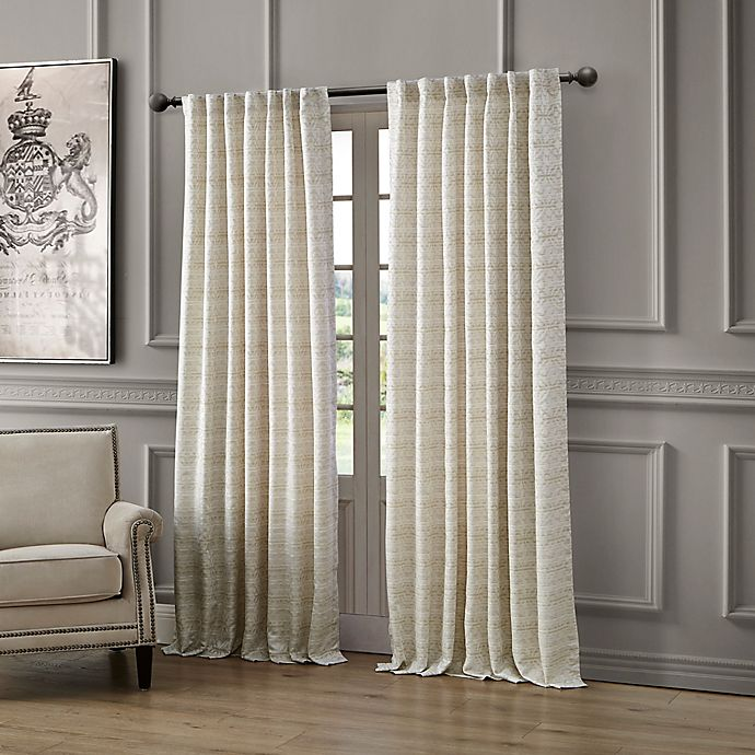 Alternate image 1 for Waterford® Astrid Rod Pocket/Back Tab Window Curtain Panel
