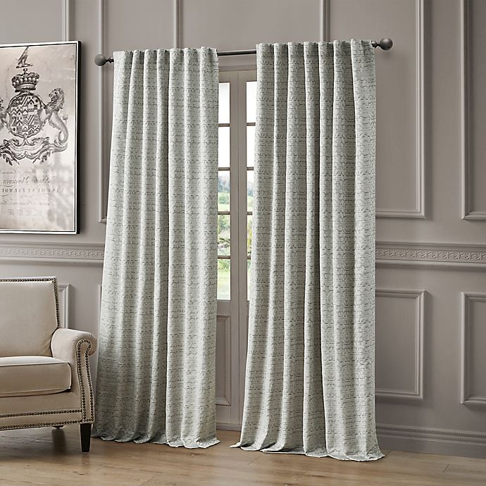 Alternate image 1 for Waterford® Astrid 96-Inch Rod Pocket/Back Tab Window Curtain Panel in Blue
