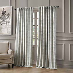 Waterford® Astrid 96-Inch Rod Pocket/Back Tab Window Curtain Panel in Blue