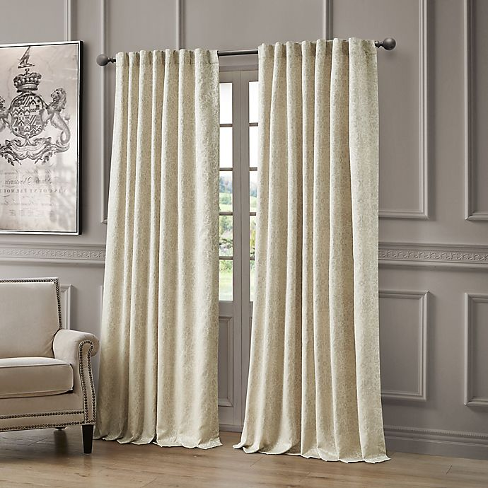 Alternate image 1 for Waterford® Delia 96-Inch Rod Pocket/Back Tab Window Curtain Panel in Ivory