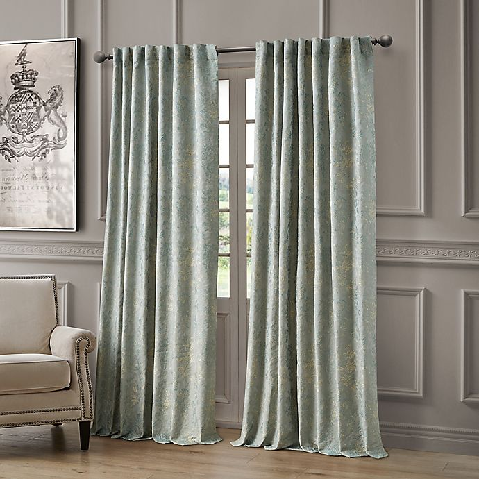Alternate image 1 for Waterford Juniper 84-Inch Rod Pocket/Back Tab Light Filtering Window Curtain Panel in Mineral