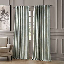 Waterford Juniper 96-Inch Rod Pocket/Back Tab Light Filtering Window Curtain Panel in Mineral