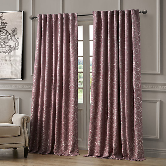Alternate image 1 for Waterford Renly 96-Inch Rod Pocket/Back Tab Room Darkening Window Curtain Panel in Mulberry