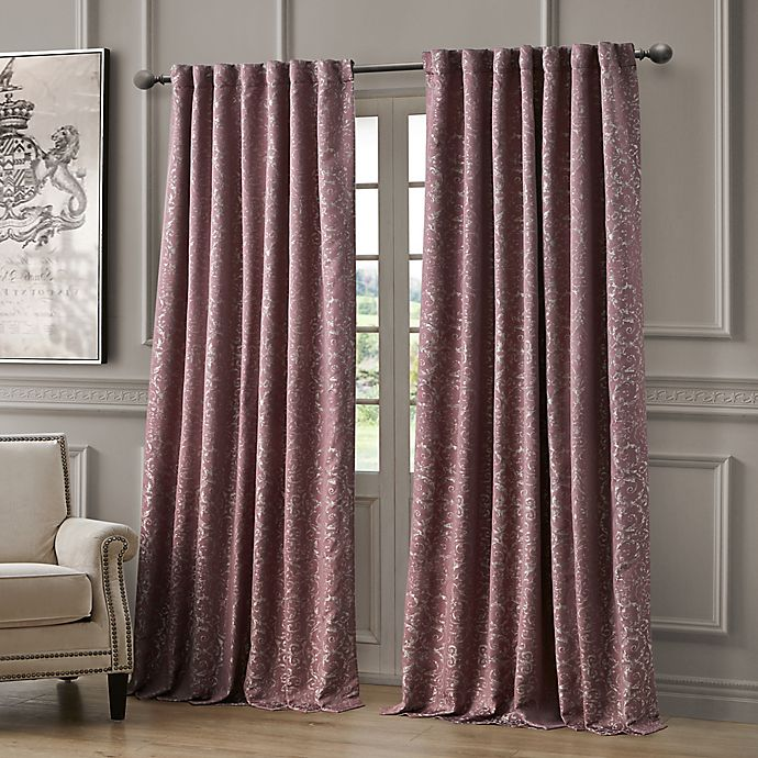 Alternate image 1 for Waterford Renly 108-Inch Rod Pocket/Back Tab Room Darkening Window Curtain Panel in Mulberry
