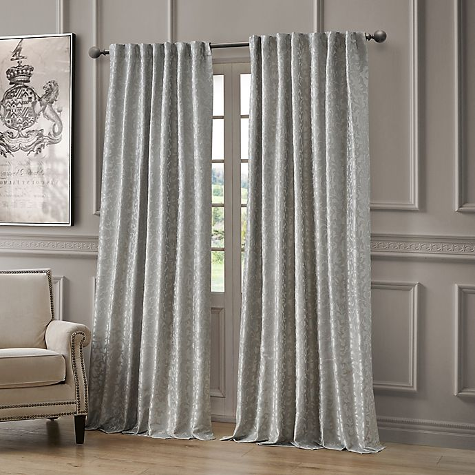 Alternate image 1 for Waterford Lawrence Rod Pocket/Back Tab Room Darkening Window Curtain Panel