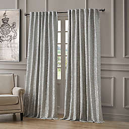 Waterford Lawrence 84-Inch Room Darkening Window Curtain Panel in Grey
