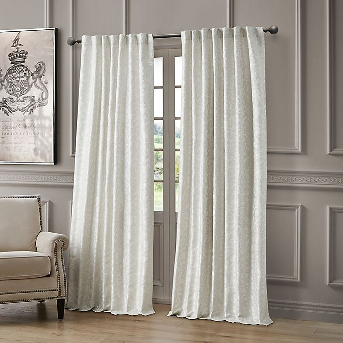 Alternate image 1 for Waterford Lawrence 96-Inch Room Darkening Window Curtain Panel in Pearl