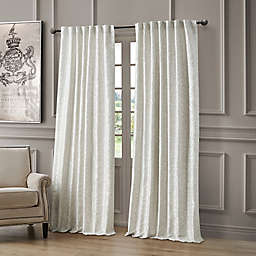 Waterford Lawrence 84-Inch Room Darkening Window Curtain Panel in Pearl