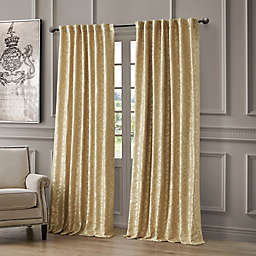 Waterford Lawrence 84-Inch Room Darkening Window Curtain Panel in Gold