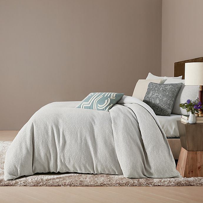 Alternate image 1 for O&O by Olivia & Oliver™ Trezzano 2-Piece Twin Duvet Cover Set in Silver