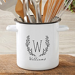 Floral Stainless Steel Utensil Holder