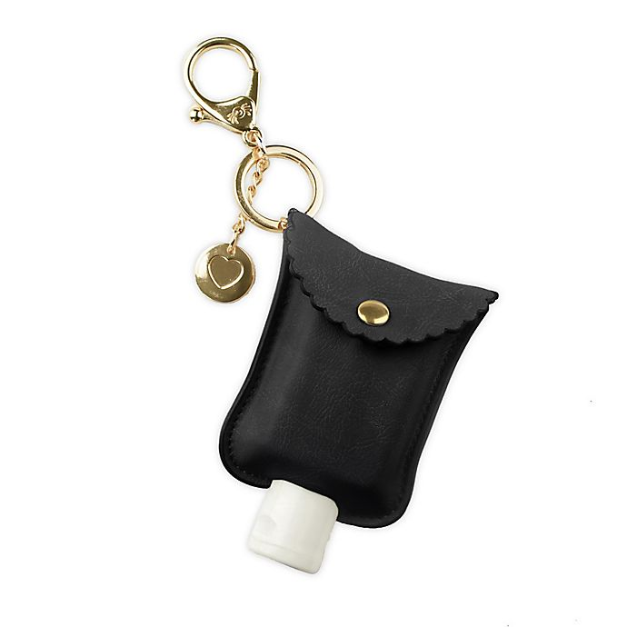 Alternate image 1 for Itzy Ritzy® Hand Sanitizer Diaper Bag Charm in Black