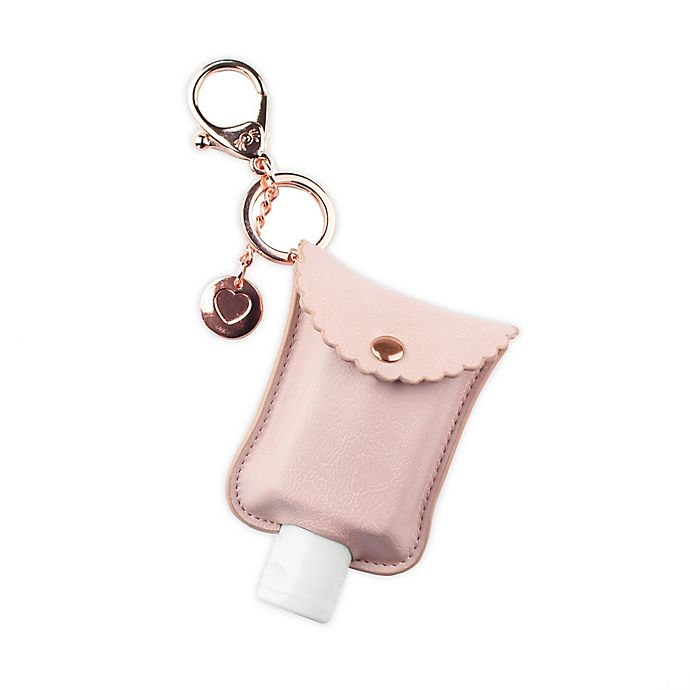 Alternate image 1 for Itzy Ritzy® Hand Sanitizer Diaper Bag Charm in Blush