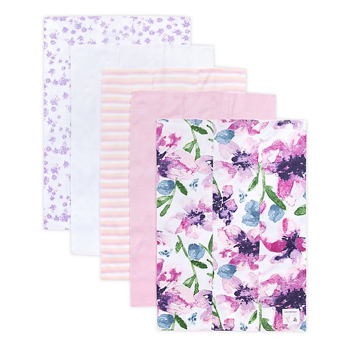 Alternate image 1 for Burt's Bees® 5-Piece Burp Cloth Set in Lilac