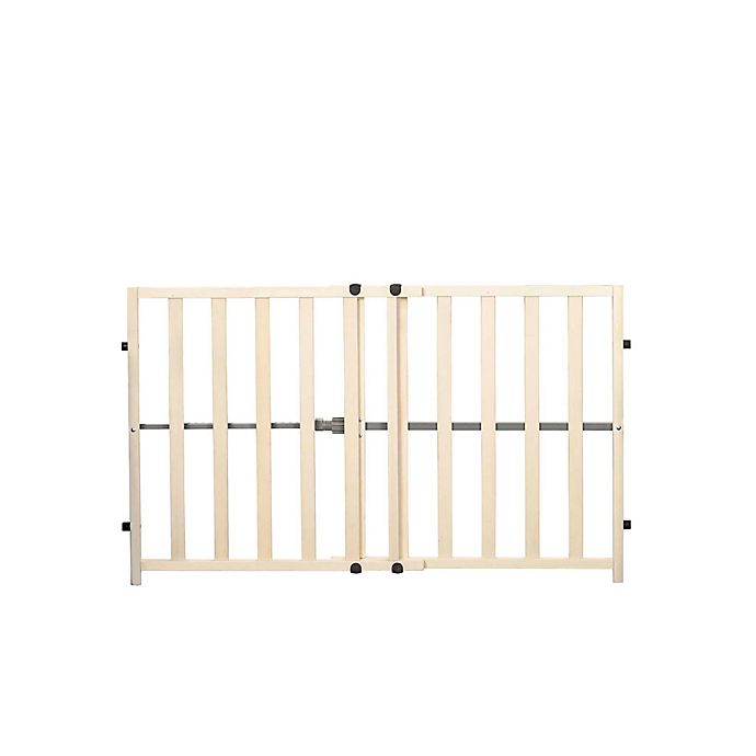 Alternate image 1 for Regalo® Tension Mount Expandable Baby Gate in Brown