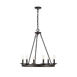 Safavieh Joris 6-Light Downrod Mount Chandelier