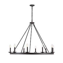Safavieh Telta 10-Light Chandelier in Black