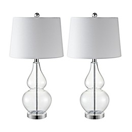 Safavieh Frena 2-Light LED Table Lamps with Cotton Shade (Set of 2)