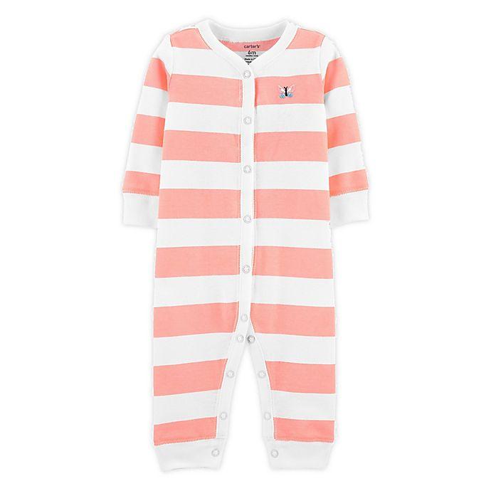 Alternate image 1 for carter's® Stripe Footless Sleep N' Play in Coral