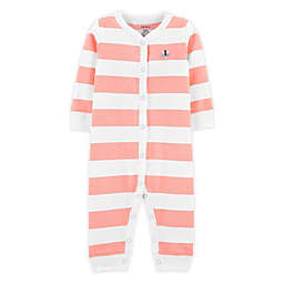 carter's® Stripe Footless Sleep N' Play in Coral