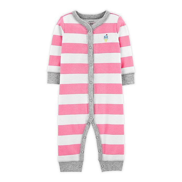Alternate image 1 for carter's® Stripe Footless Sleep N' Play in Pink