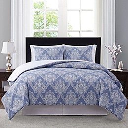 Wamsutta® Somerton 3-Piece Duvet Cover Set in Blue