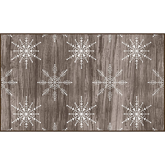 Alternate image 1 for Mohawk Prismatic Barnwood Snowflakes Printed Accent Rug in Brown