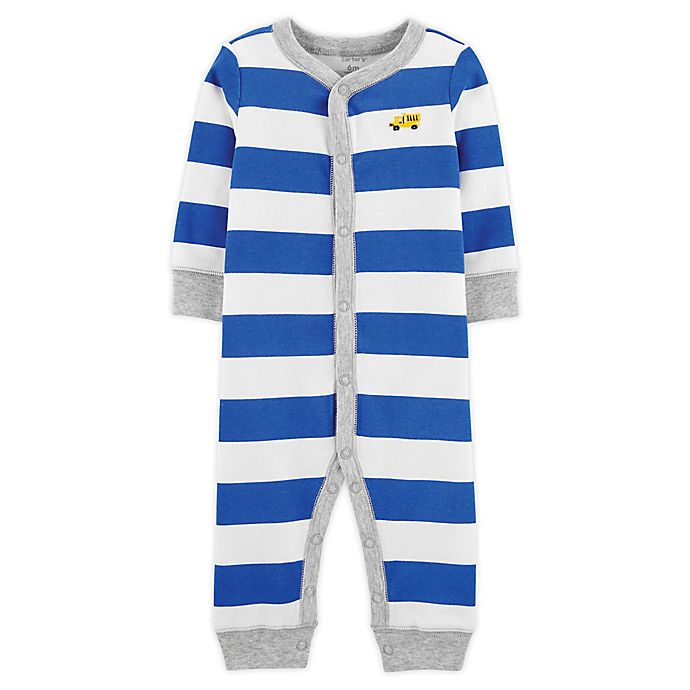 Alternate image 1 for carter's® Stripe Snap-Up Sleep and Play Pajama