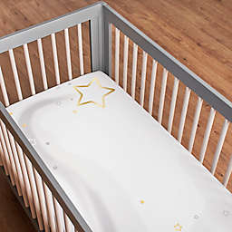 Just Born® Sparkle Fitted Crib Sheet in Ivory