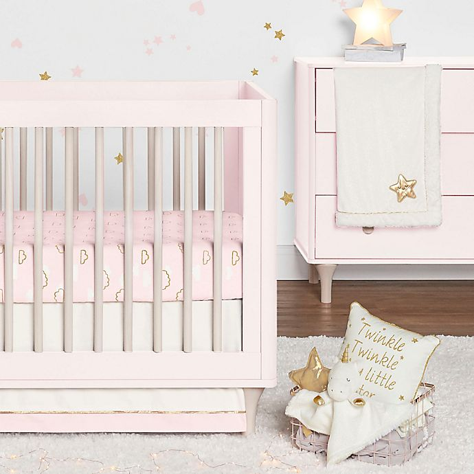 Alternate image 1 for Just Born® Sparkle 3-Piece Crib Bedding Set in Pink