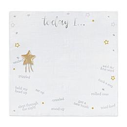 Just Born® Sparkle 2020 Milestone Blanket in Ivory