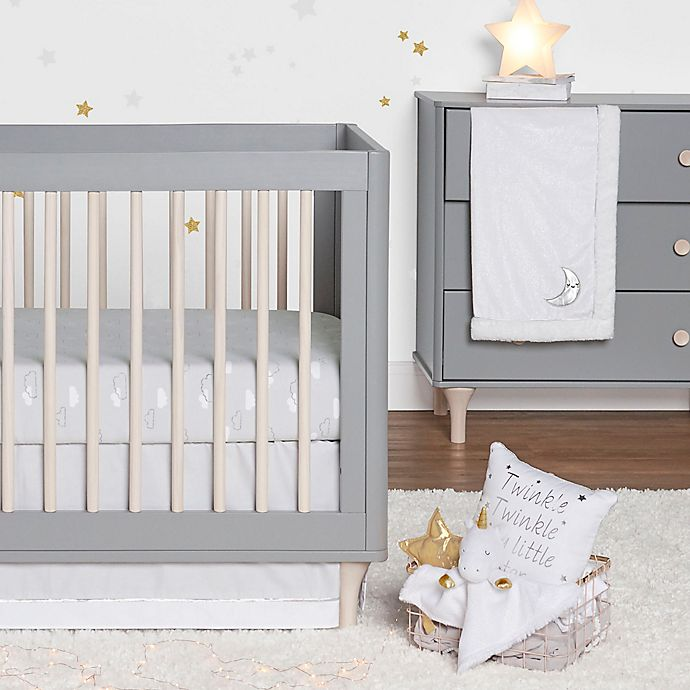 Alternate image 1 for Just Born® Sparkle 3-Piece Crib Bedding Set in Grey